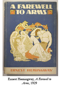 First edition of A Farewell to Arms, by Ernest Hemingway