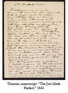 Original manuscript by Henry David Thoreau of