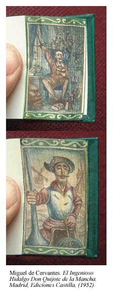 Set of miniature fore-edge paintings by Martin Frost featuring Don Quixote