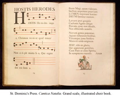 Cantica Natalia, the largest book produced by the St. Dominic's Press
