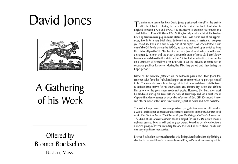 David Jones: A Gathering of His Work