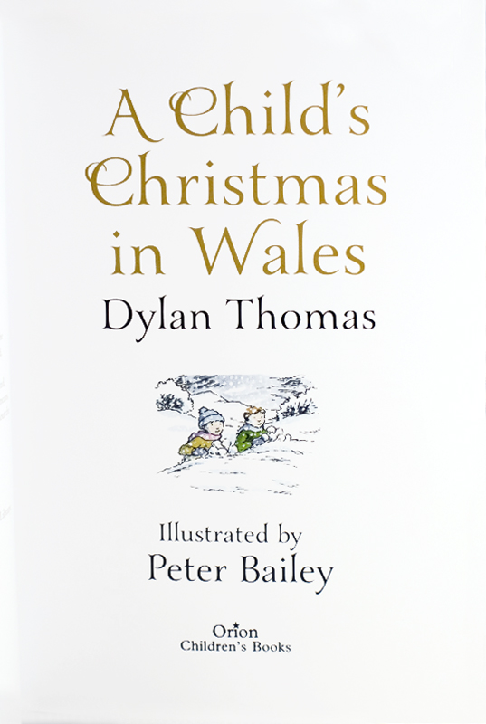A Childs Christmas In Wales.Original Watercolor Drawing For A Child S Christmas In Wales By Dylan Thomas On Bromer Booksellers