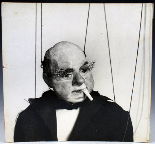 Photograph of a Dwiggins marionette: F. Morton Smith. W. A. Dwiggins.