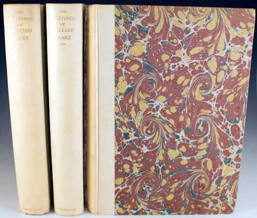 The Writings of William Blake. Edited in Three Volumes by Geoffrey Keynes. William Blake.