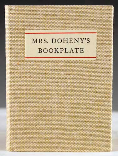 Mrs. Doheny's Bookplate. James Lewis.