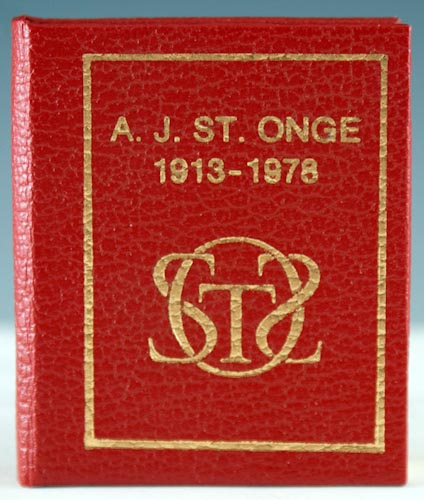 Bibliomidgets of Achille J. St. Onge: A Memorial and a Bibliography. Robert E. Massmann.