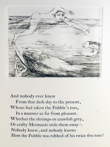 The Pobble Who Has No Toes. Edward Lear.