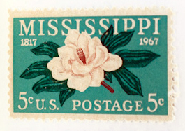 Flowers & Plants on United States Postage Stamps. Miriam B. Lawrence.