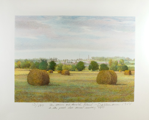 Landscape with Hay Wheels.