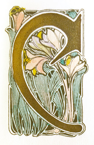 Florilegium: A Collection of Flower Initials Designed by Maurice Dufrène. Maurice Dufrène.