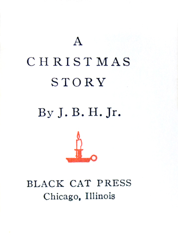 A Christmas Story, by J.B.H. Jr.