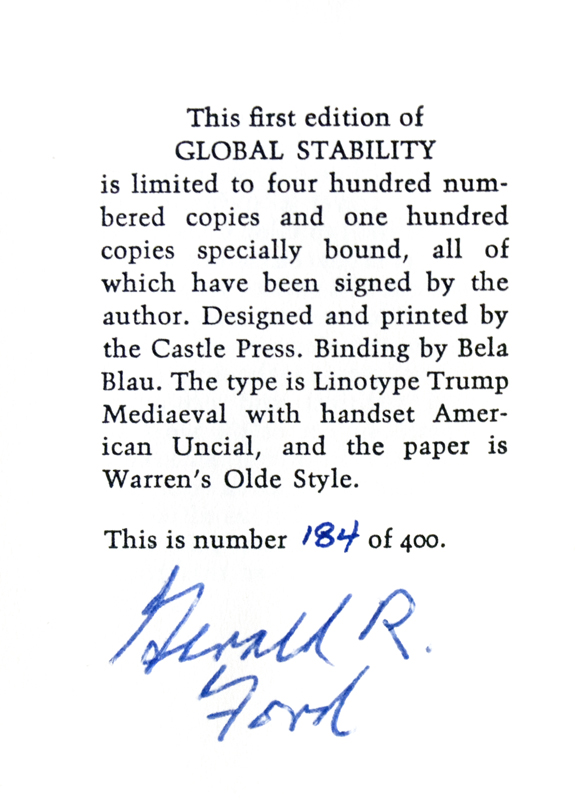 Global Stability. Gerald R. Ford.