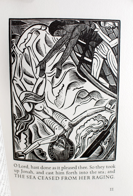 The Book of Jonah. Together with: thirteen wood engravings by David Jones for the book