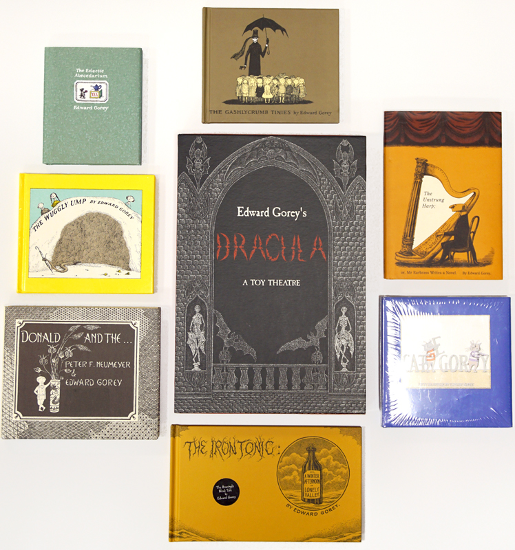 Eight later reprints of Edward Gorey editions.