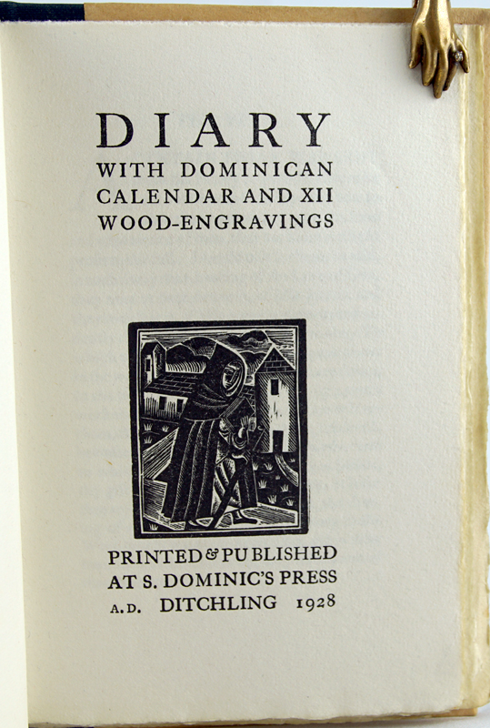 Diary with Dominican Calendar and XII Wood-engravings