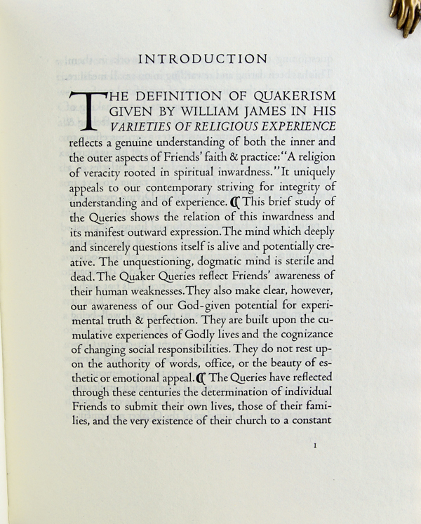 The Quaker Queries: New England Queries in Past and Present Forms.