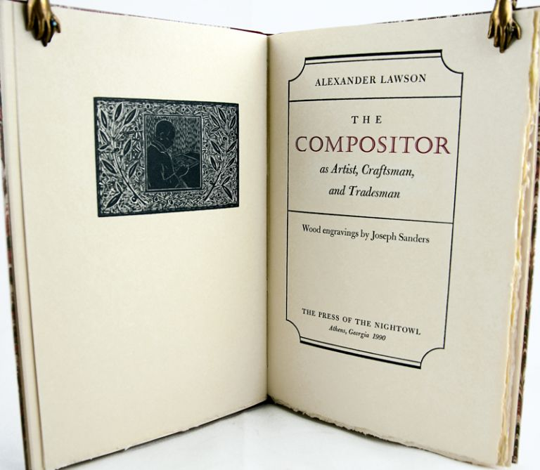 The Compositor. An Artist, Craftsman, and Tradesman. Alexander Lawson.
