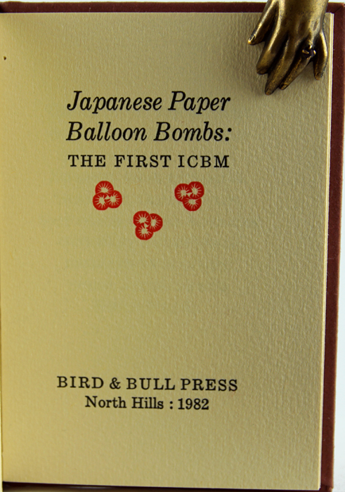 Japanese Paper Balloon Bombs: the First ICBM.