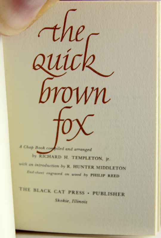 The Quick Brown Fox. Richard H. Templeton.