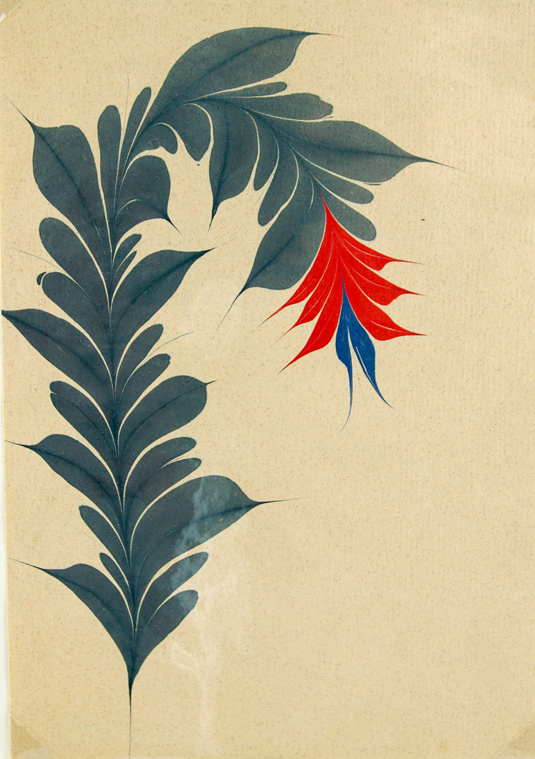 Small Flower on Note Paper. Christopher Weimann.