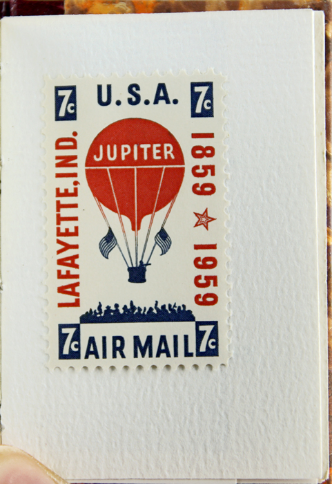 Voyage Aboard the Jupiter: The Contemporary Account of the World's First Airmail Flight, Indiana, 1859.