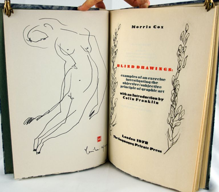 Blind Drawings: Examples of an Exercise Investigating the Objective/Subjective Principle of Graphic Art. Colin Franklin.
