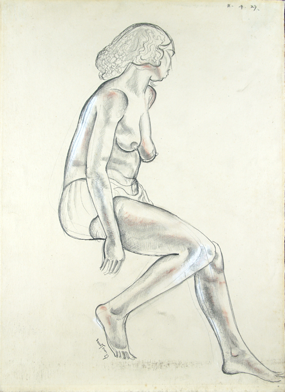 [Seated Nude Looking Away].
