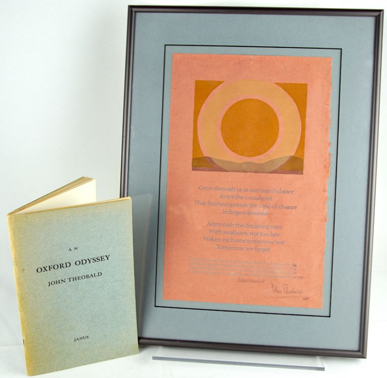 An Oxford Odyssey. Together with: 35th anniversary broadside. John Theobald.