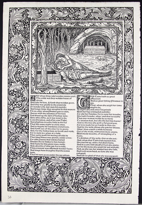 Leaf from the Kelmscott Chaucer with an Essay on its Commercial History by John Windle. John Windle.