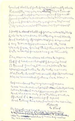 "Autograph Manuscript, Signed: ""Does No One but Me at All Ever Feel This Way in the Least?"""