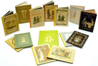 A complete set of Kate Greenaway's Almanacks for 1883-1895, 1897. Kate Greenaway