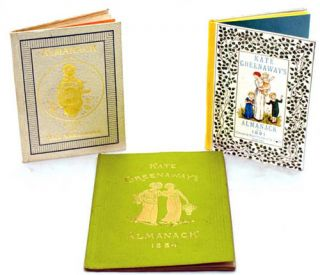 A complete set of Kate Greenaway's Almanacks for 1883-1895, 1897.