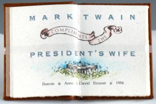 Mark Twain Compliments the President's Wife.