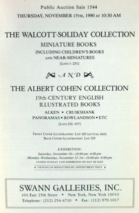 The Walcott-Soliday Collection: Miniature Books, including Children's Books and Near-Miniatures.