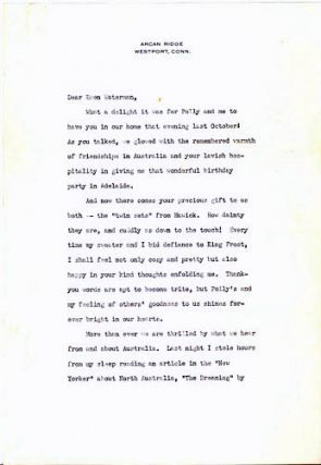 Typed Letters, signed. Helen Keller.