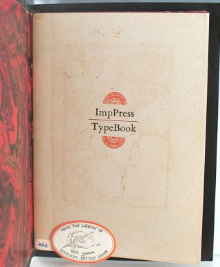 ImpPress Typebook: Being a Complete Showing of Typefaces, Borders, Dingbats, Miscellanea Available at the Aforementioned.