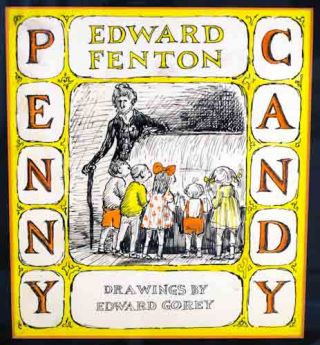 Preliminary cover design for Penny Candy, by Edward Fenton