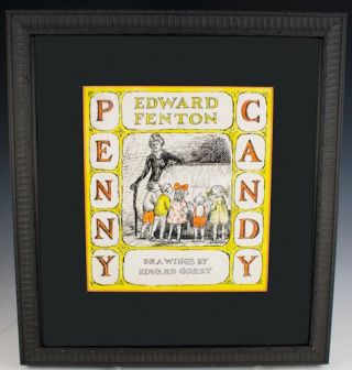 Preliminary cover design for Penny Candy, by Edward Fenton.