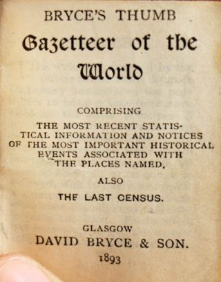Thumb Gazetteer of the World.