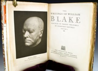 The Writings of William Blake. Edited in Three Volumes by Geoffrey Keynes.