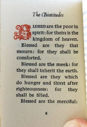 The Sermon on the Mount from the Gospel of St. Matthew, Chapters 5, 6, 7.