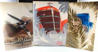 Set of three catalogues for the Lincoln Zephyr V12.