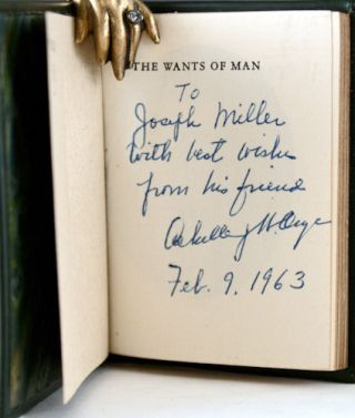 The Wants of Man. A Poem by John Quincy Adams.
