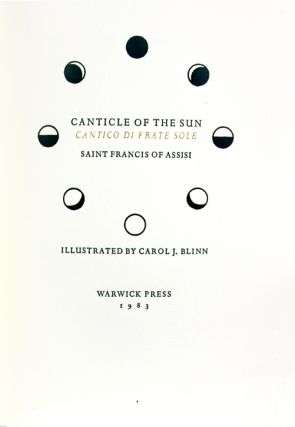 Canticle of the Sun. Cantico di Frate Sole.