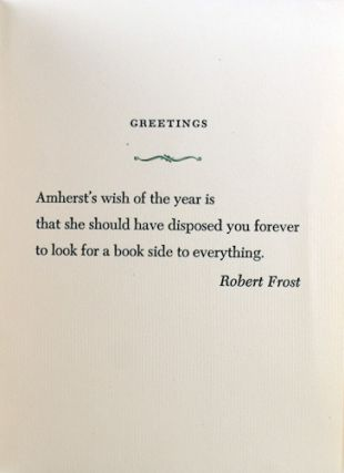 Amherst College New Year's Greeting, 1953.