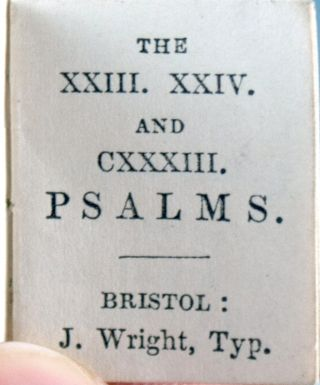 The XXIII, XXIV, and CXXXIII Psalms.