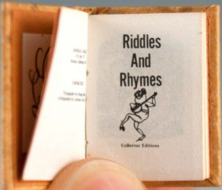 Riddles and Rhymes.