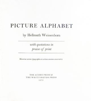 Picture Alphabet, with Quotations in Praise of Print.