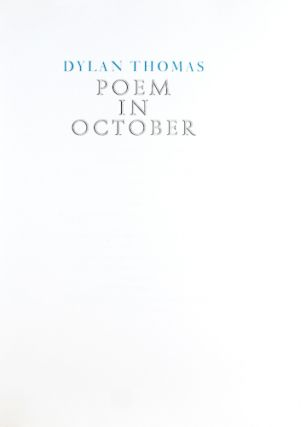 Poem in October.