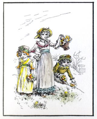 Drawings by Kate Greenaway, Verses by Laura E. Richards. From Ladies' Home Journal, 1895 and...